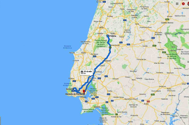 Full day tour Fatima and Sintra