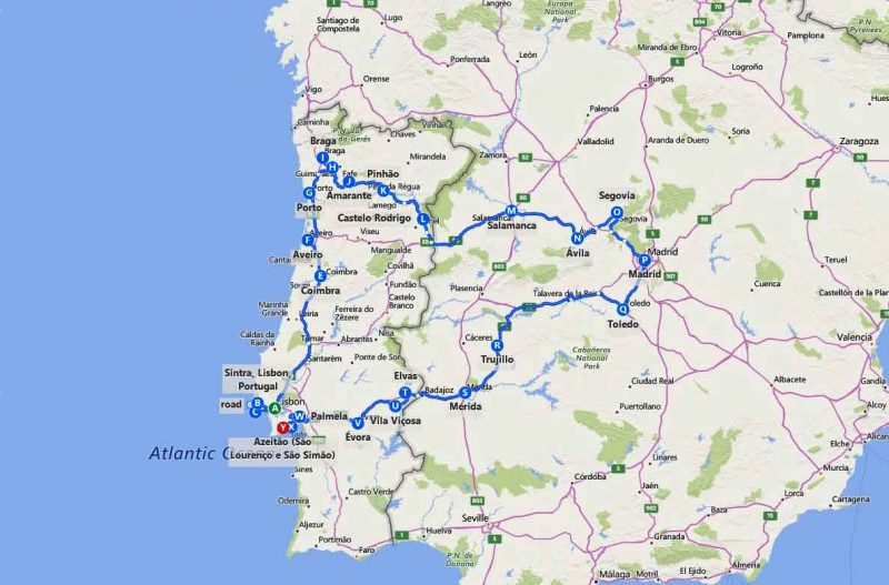 10 day Spain and Portugal itinerary (center/north)