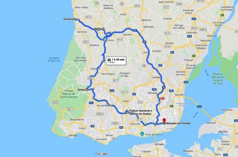 Paseo por Sintra y Mafra – 8h