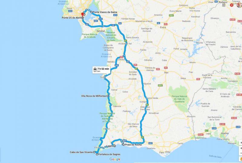 Recorrido por el Algarve – Praia da Rocha, Lagos y Sagres – 10h
