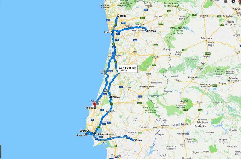 Roteiro 8 dias em Portugal